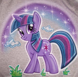 Twilight Sparkle My Little Pony Airbrushed Shirt Design