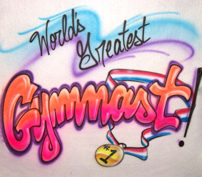 Worlds Greatest Gymnast Gold Medal Airbrushed Shirt