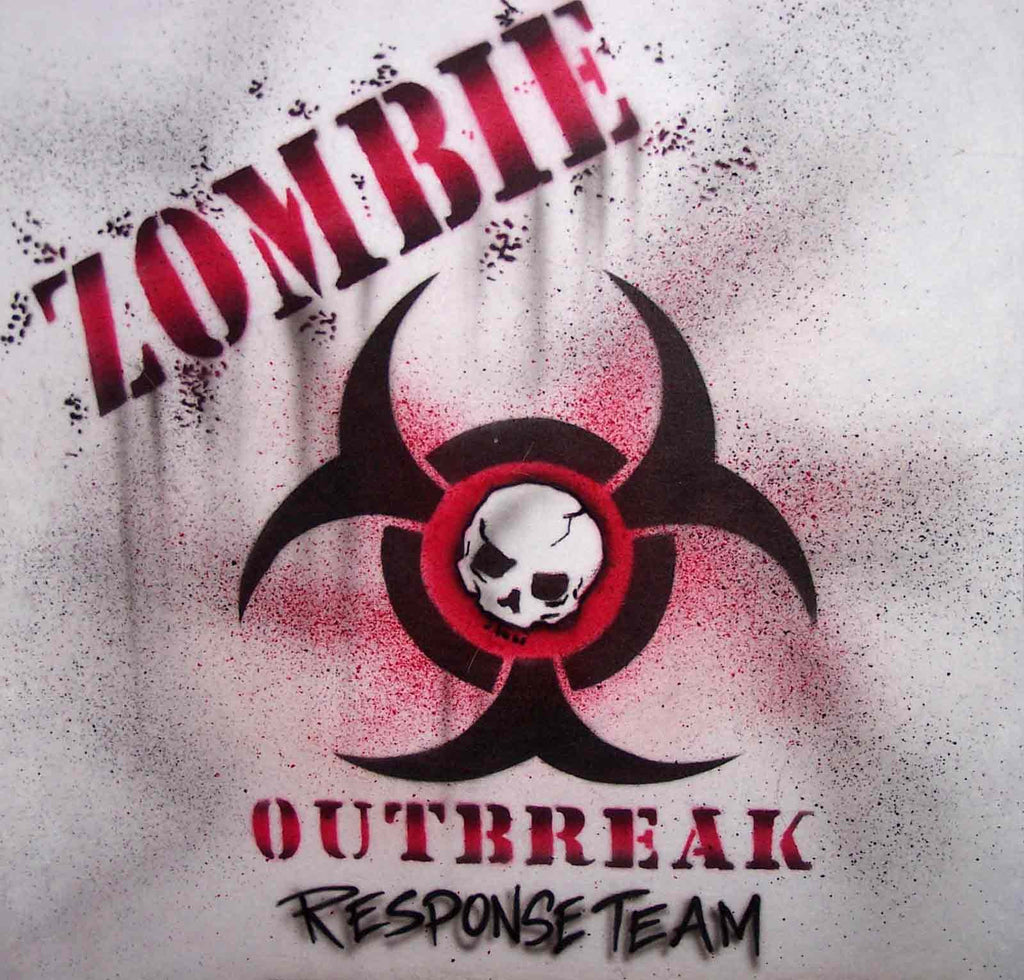Zombie Outbreak Response Team Custom Painted Shirt