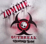 Zombie outbreak design by airbrush apparel