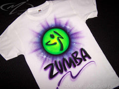 Zumba Airbrushed Custom Shirt Design