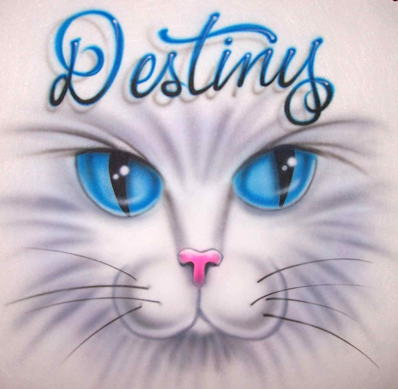airbrush cat eyes custom tee