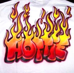 Airbrushed Hottie Flames Shirt