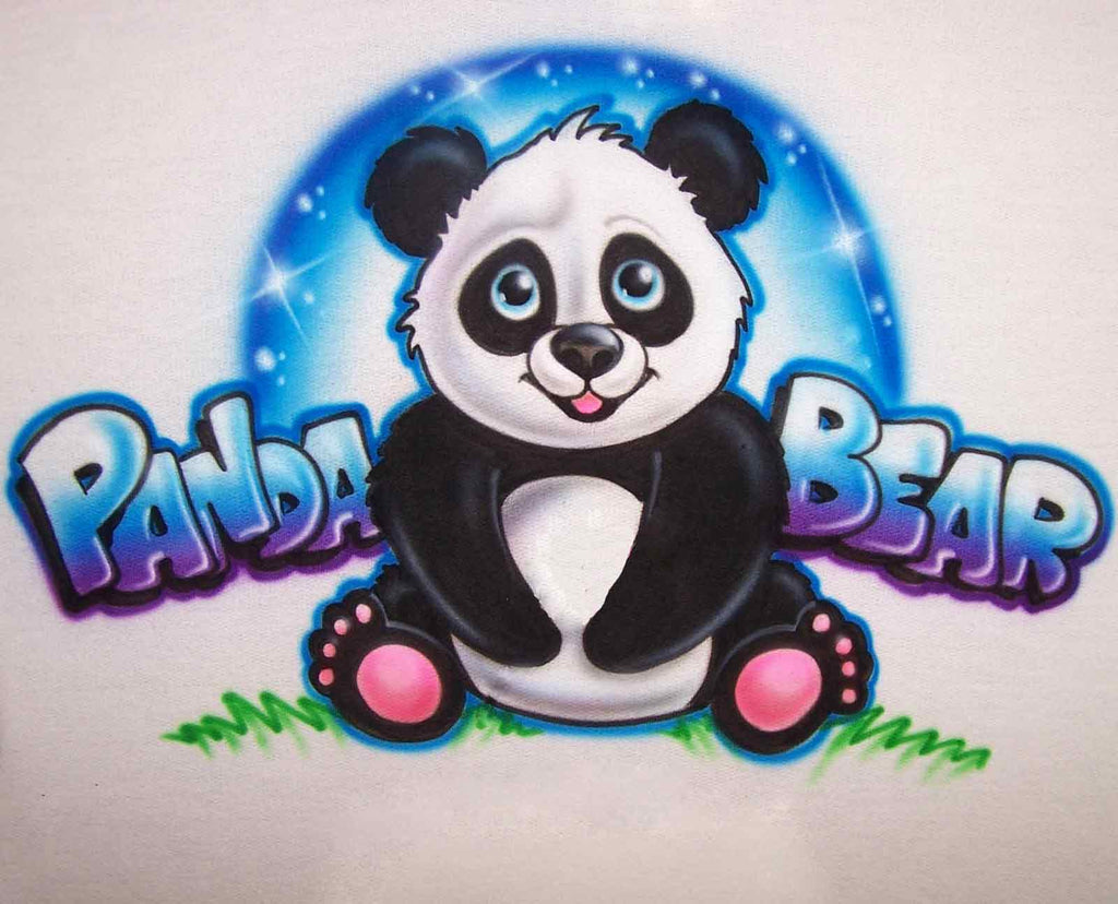 Cartoon Panda Bear T-Shirt with Any Names Added