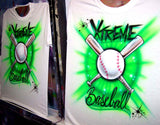 quantity team baseball airbrushed shirts