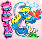 Personalized Smurfette Custom Airbrushed Tee or Sweatshirt