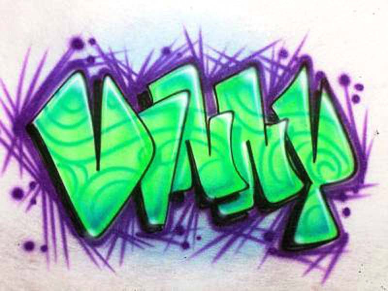 Funky graffiti airbrush tshirt name design