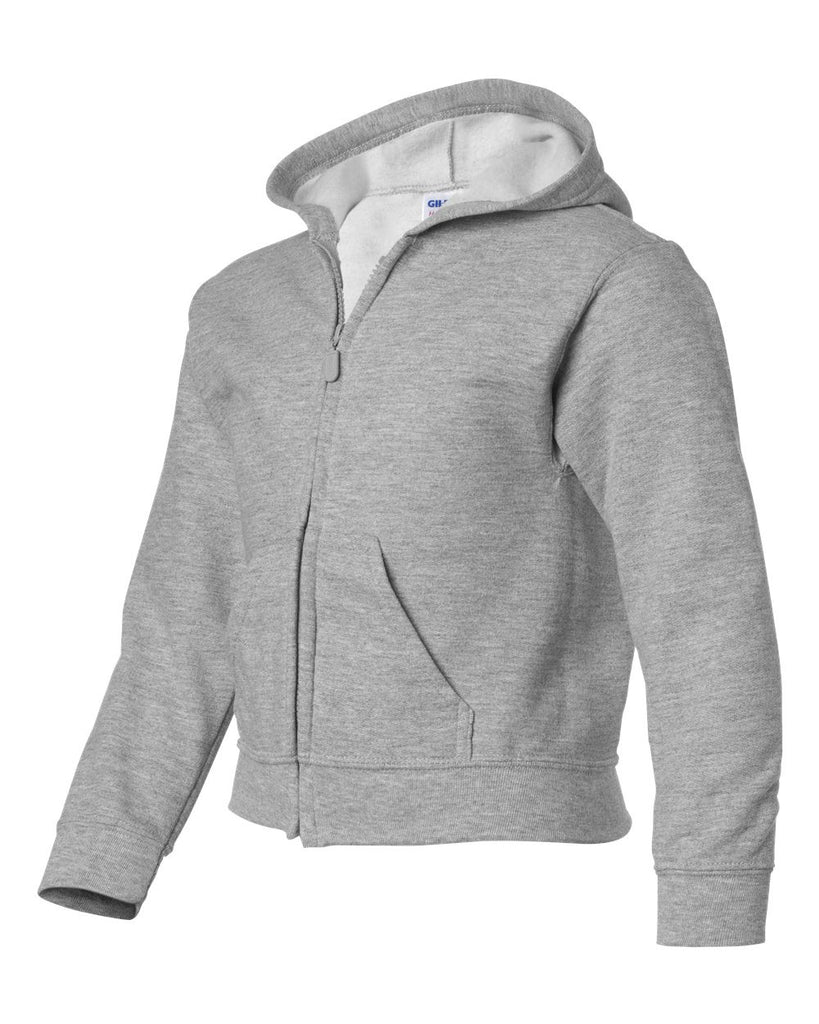 Youth Full Zip Hooded Mid Weight Sweatshirt Upgrade For Your Airbrushed Design
