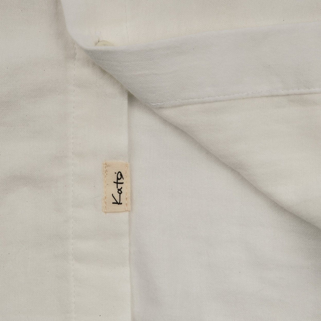 "KATO' ""The Ripper"" - Vintage Double Gauze Slim French Seam L/S Shirt - White"