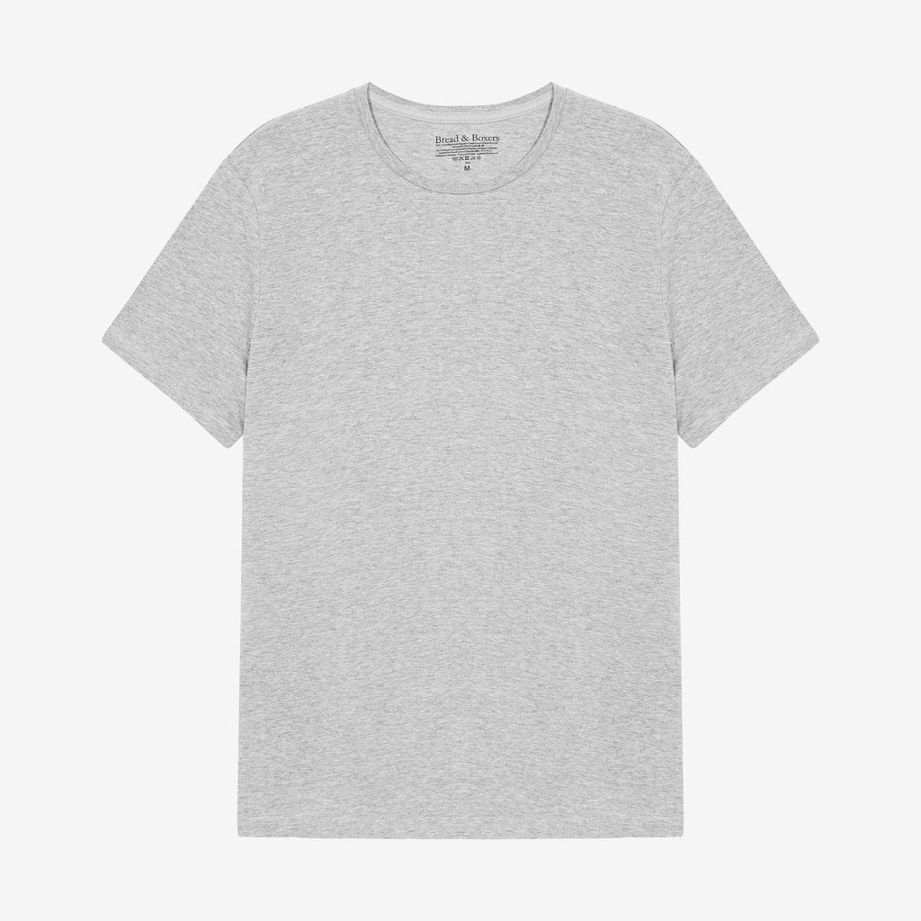 Bread & Boxers - Crew Neck T-Shirt - Grey Melange