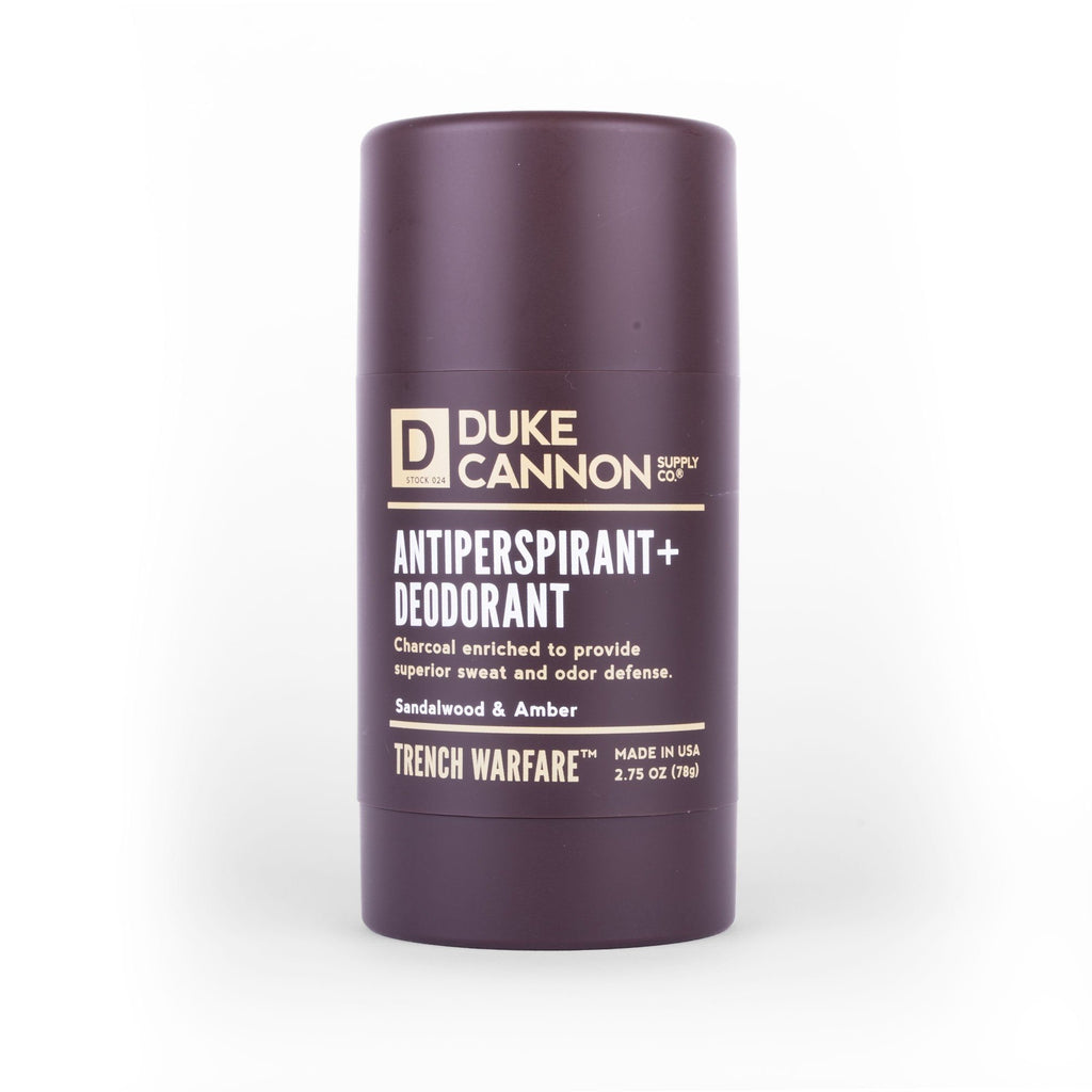 Duke Cannon - Trench Warfare Antiperspirant + Deodorant - Sandalwood & Amber - City Workshop Men's Supply Co.