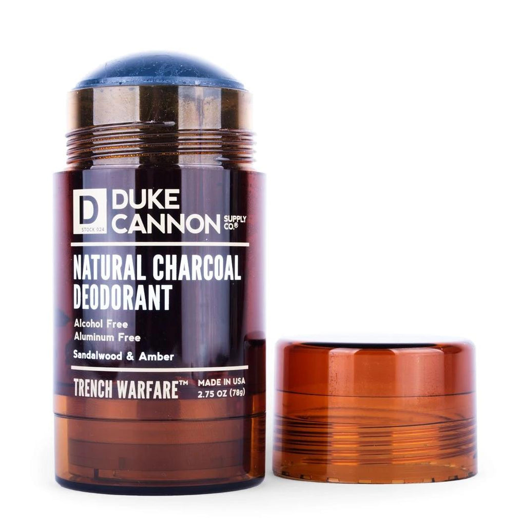 Duke Cannon - Trench Warfare Natural Charcoal Deodorant - Sandalwood & Amber - City Workshop Men's Supply Co.