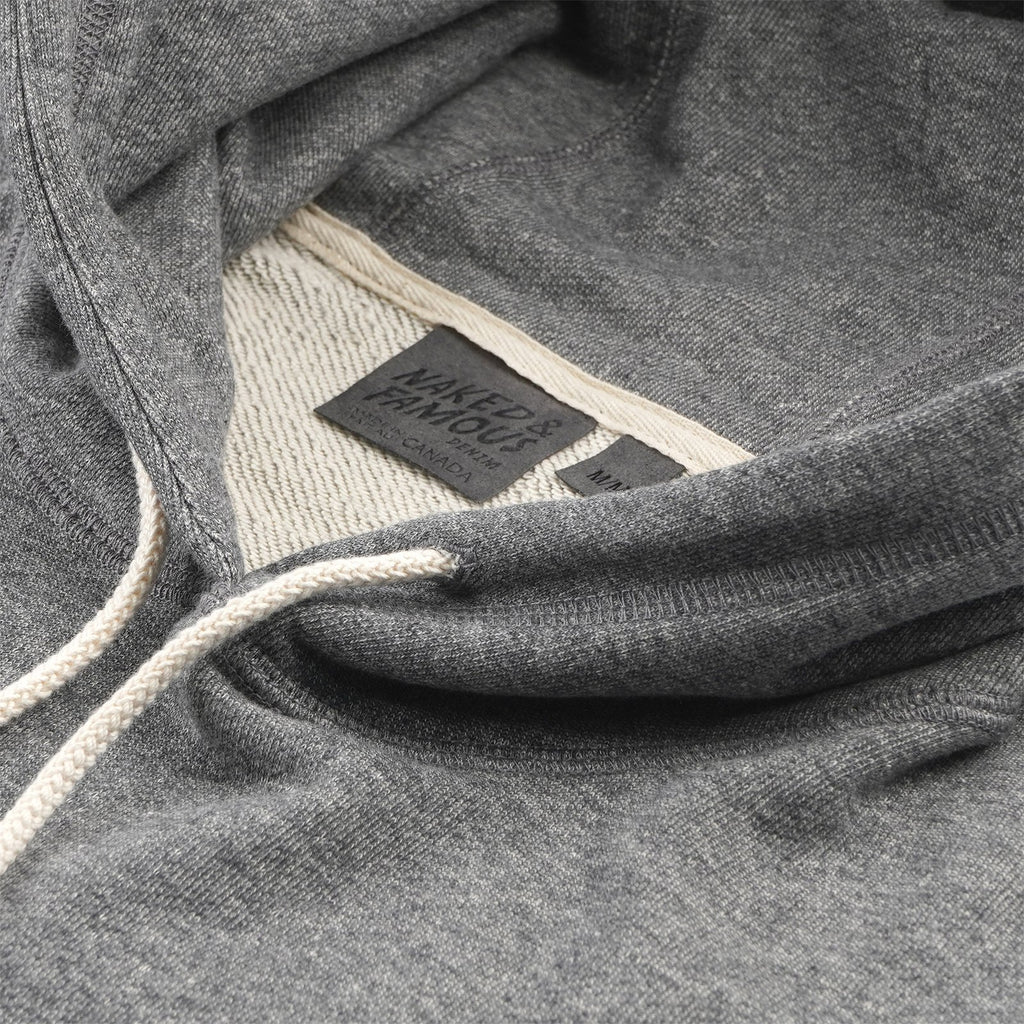 Naked & Famous - Pullover Hoodie - Heavyweight Terry - Charcoal