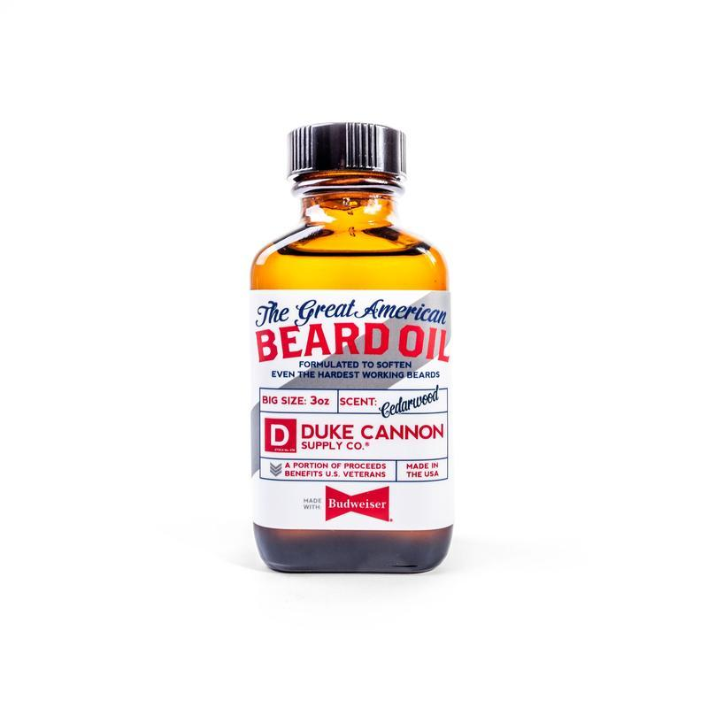 Duke Cannon - Great American Beard Oil - Made with Budweiser