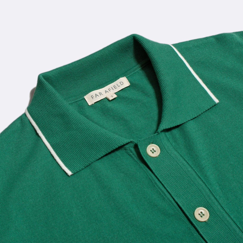 Far Afield - Errol S/S Polo - Bottle Green/Snow White - City Workshop Men's Supply Co.