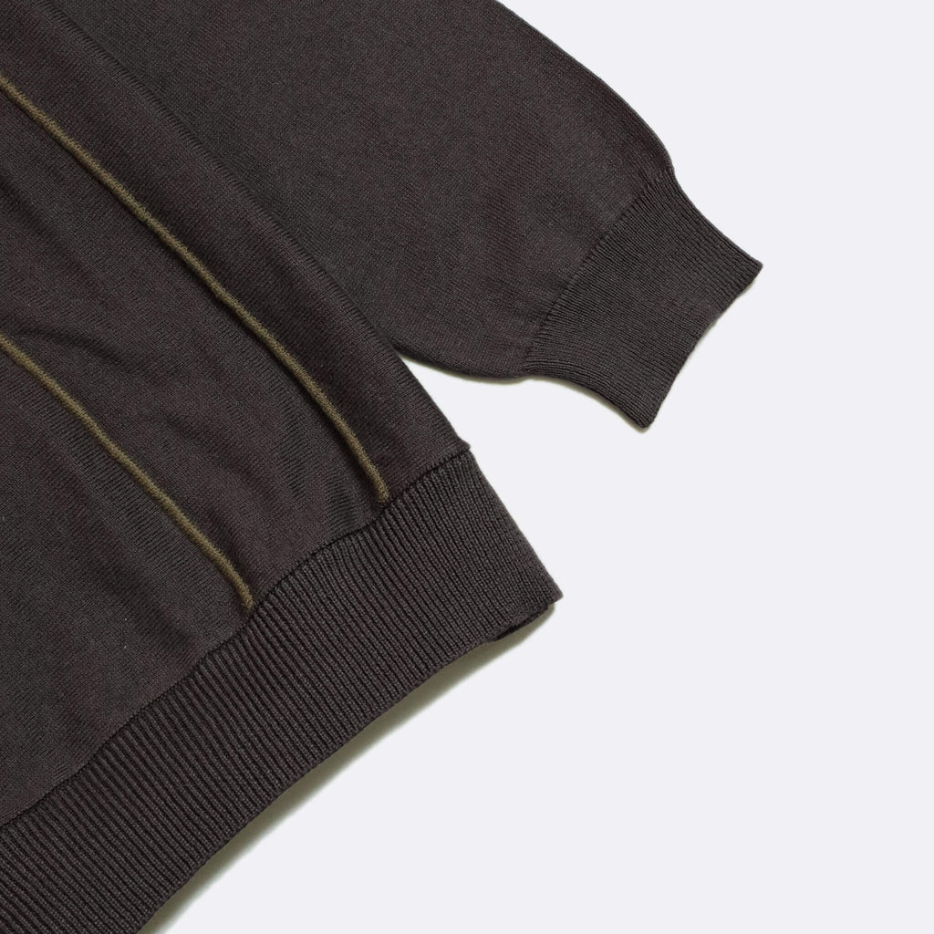 Far Afield - Alfaro Long Sleeve Polo - Expresso/Dark Brown
