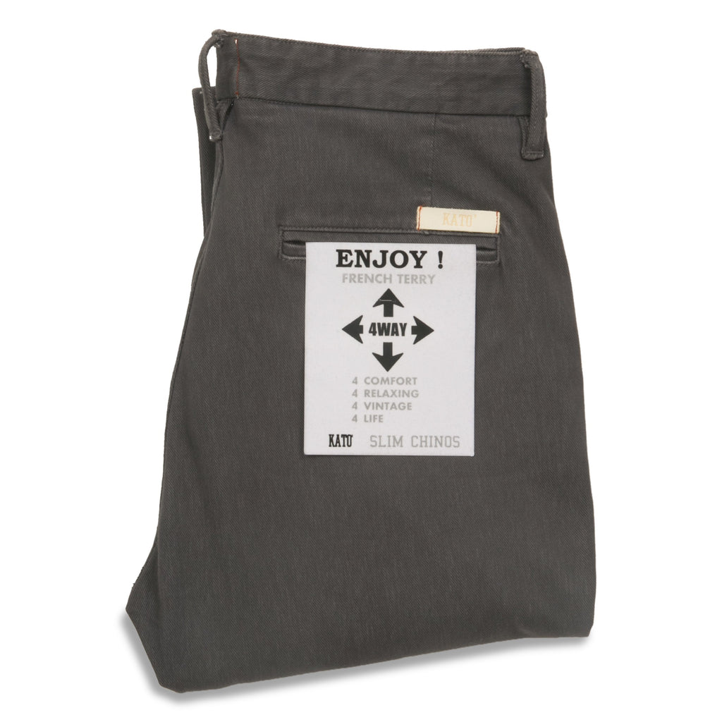 KATO' - The Axe Slim 11oz 4-Way Stretch French Terry - Charcoal - City Workshop Men's Supply Co.
