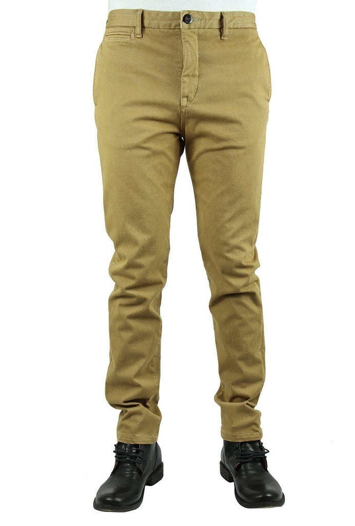 KATO' - The Axe Slim 11oz 4-Way Stretch French Terry - Khaki - City Workshop Men's Supply Co.