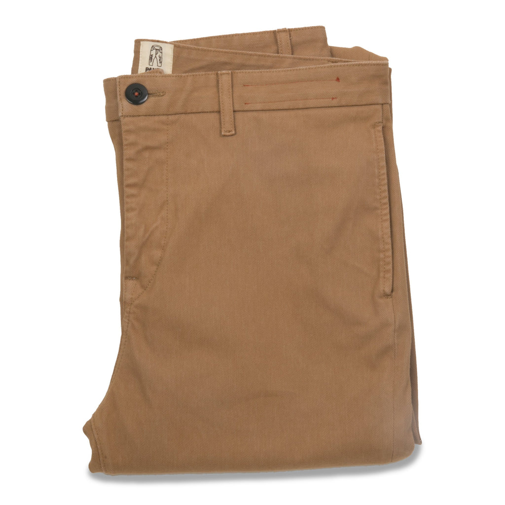 "KATO' 4-Way Stretch ""The Axe"" French Terry Slim Chino - Khaki - City Workshop Men's Supply Co."