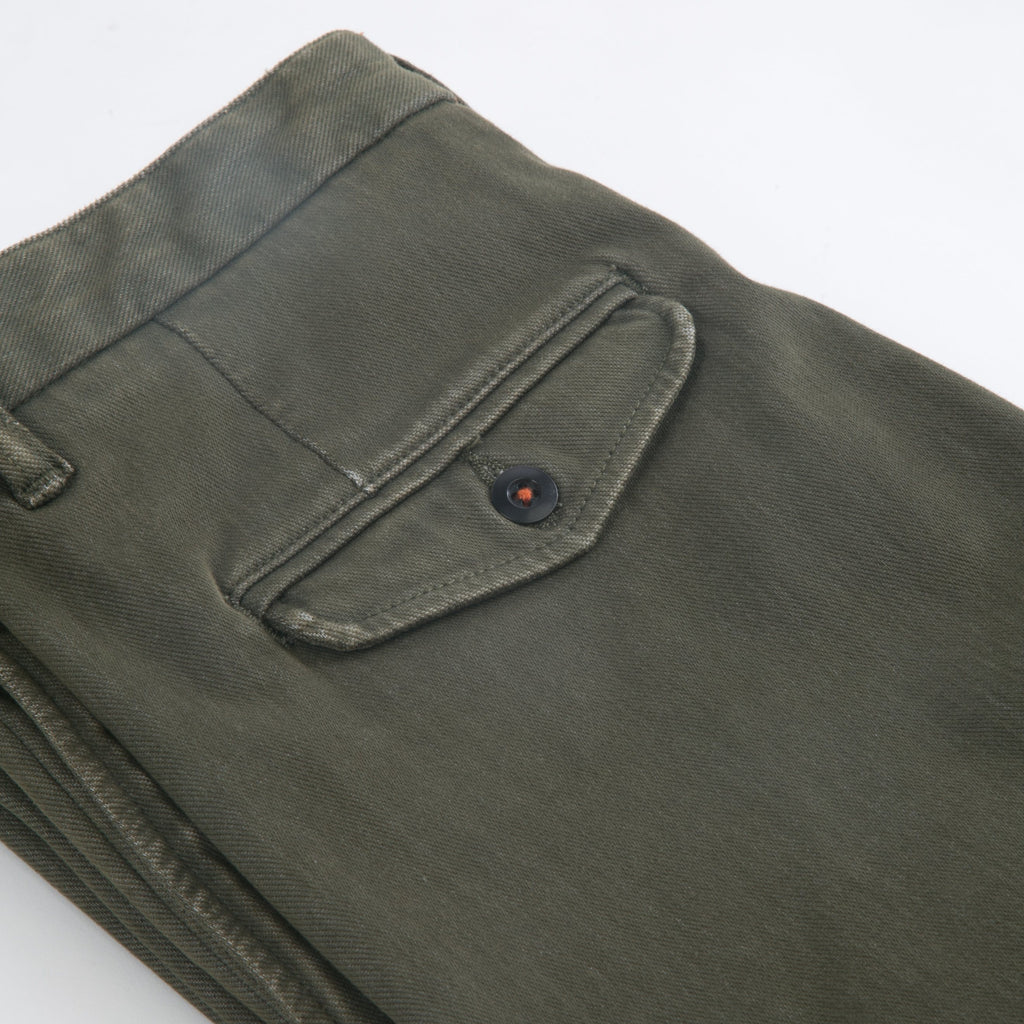 KATO' - The Axe Slim 11oz 4-Way Stretch French Terry - Military Green - City Workshop Men's Supply Co.