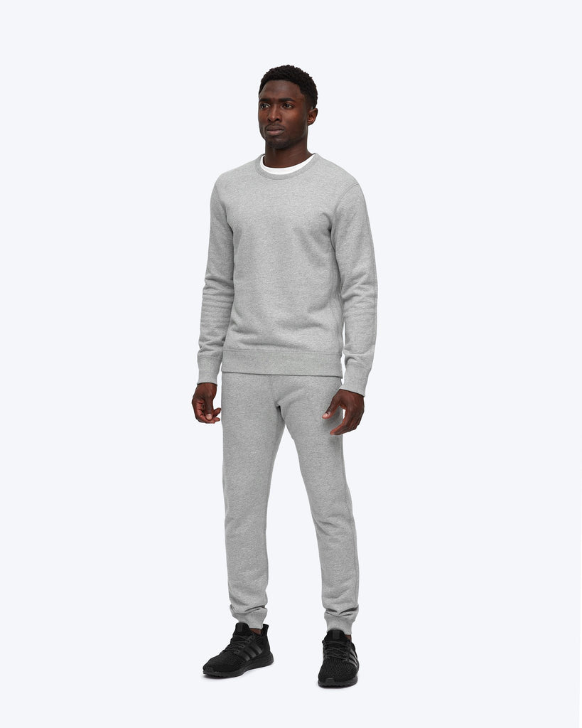 Reigning Champ Mid Weight Terry Slim Sweatpant - Heather Grey
