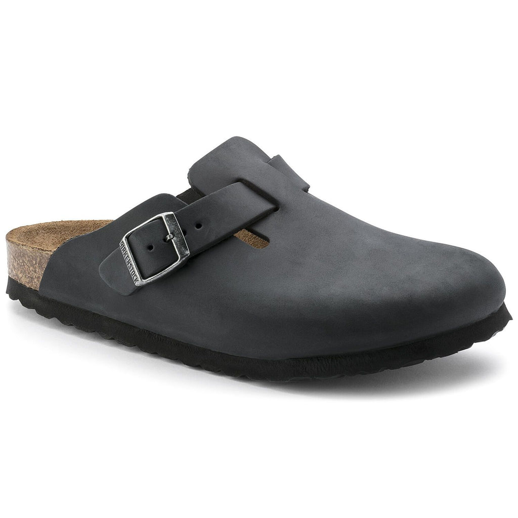 Birkenstock - Boston Oiled Leather - Black