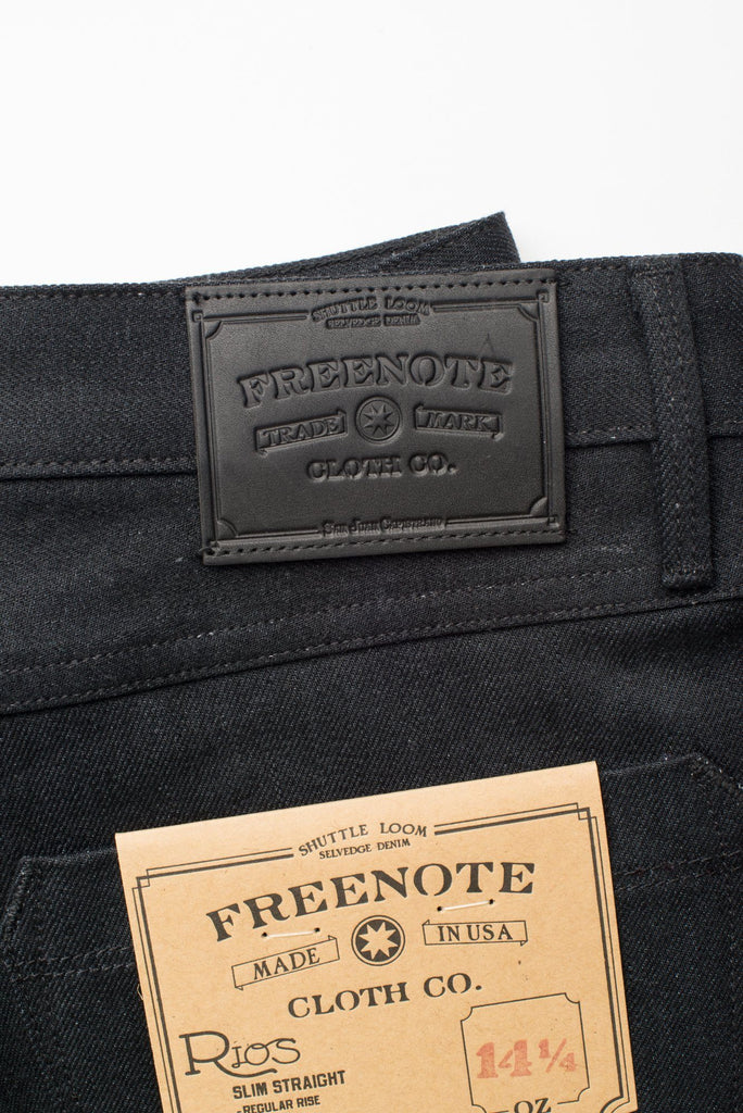 Freenote Cloth - Rios Raw 14.25oz Black Grey Japanese Denim - City Workshop Men's Supply Co.