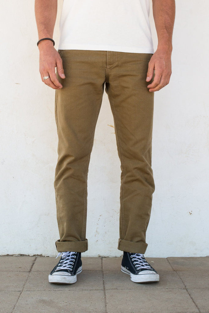 Freenote Cloth - Workers Chino Slim Fit 14oz Slub Tan