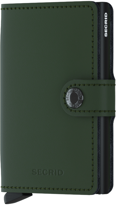 SECRID - Miniwallet - Matte Green Black - City Workshop Men's Supply Co.