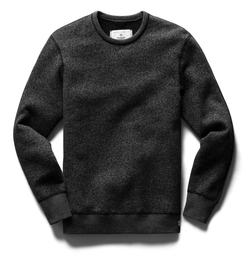 Reigning Champ - Tiger Fleece Crewneck - Black