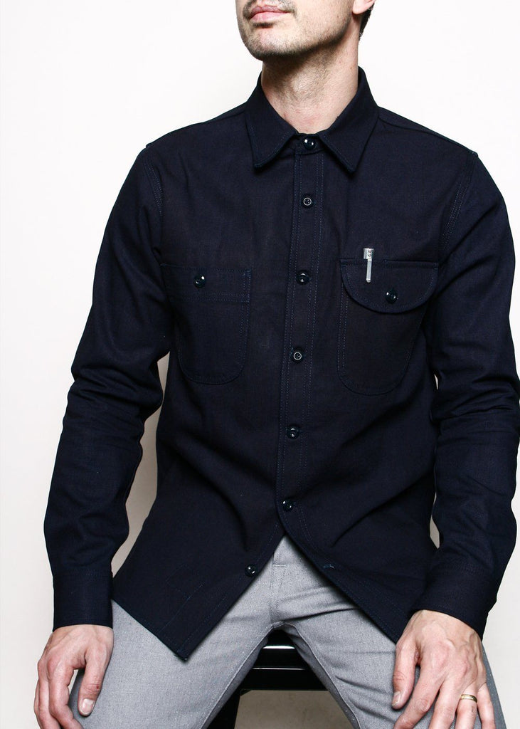 Rogue Territory - Work Shirt // Indigo Selvedge Canvas - City Workshop Men's Supply Co.