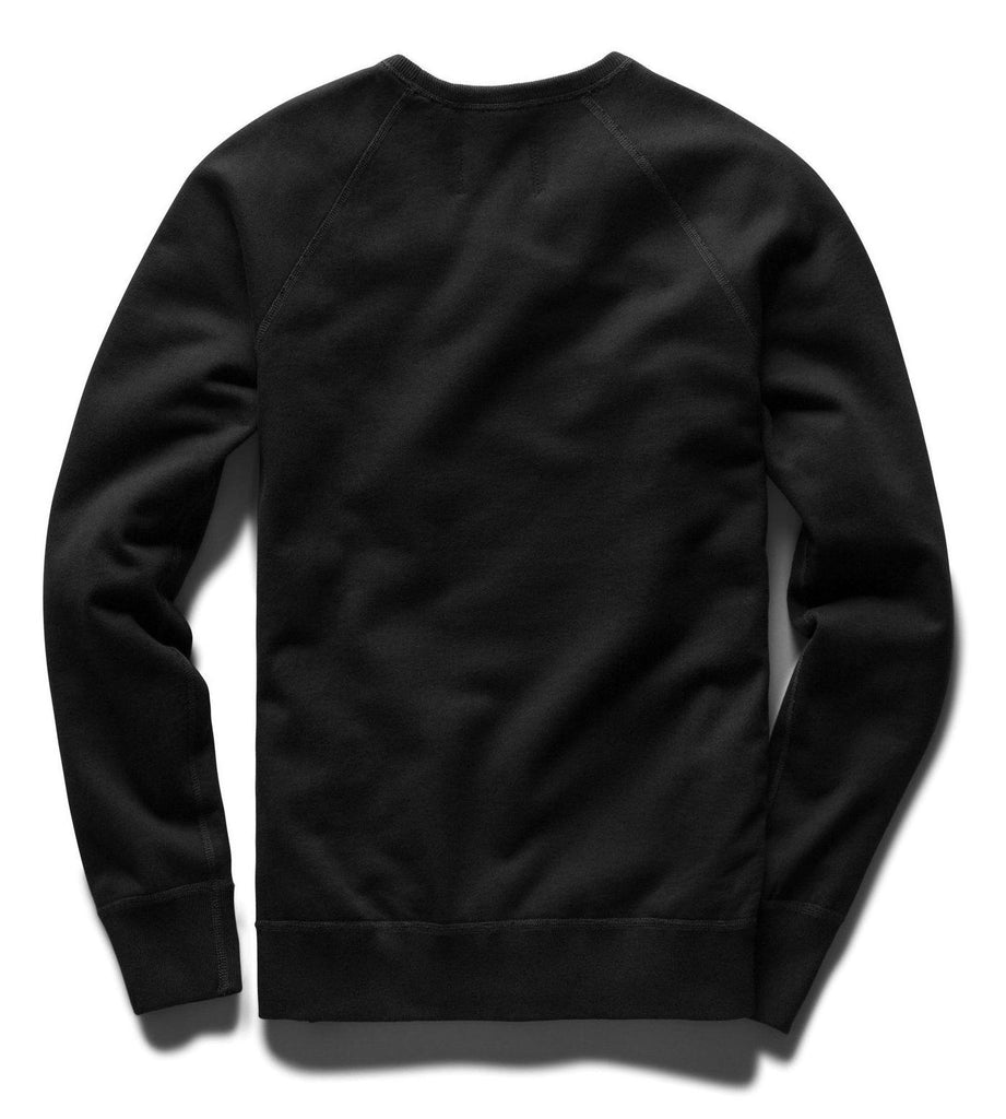 Reigning Champ Mid Weight Terry Crewneck - Black - City Workshop Men's Supply Co.