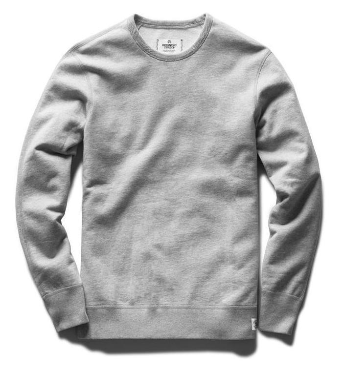 Reigning Champ Mid Weight Terry Crewneck - Heather Grey - City Workshop Men's Supply Co.