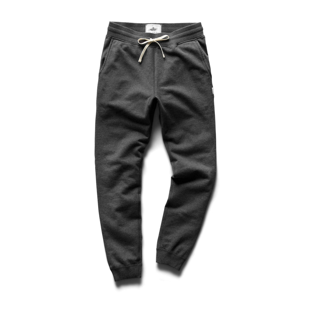 Reigning Champ Mid Weight Terry Slim Sweatpant - Heather Charcoal - City Workshop Men's Supply Co.