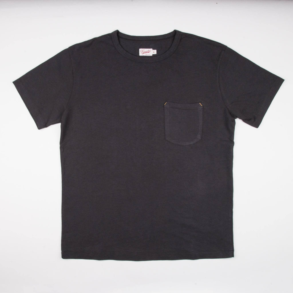 Freenote Cloth - 9 Ounce Pocket T-Shirt - Midnight