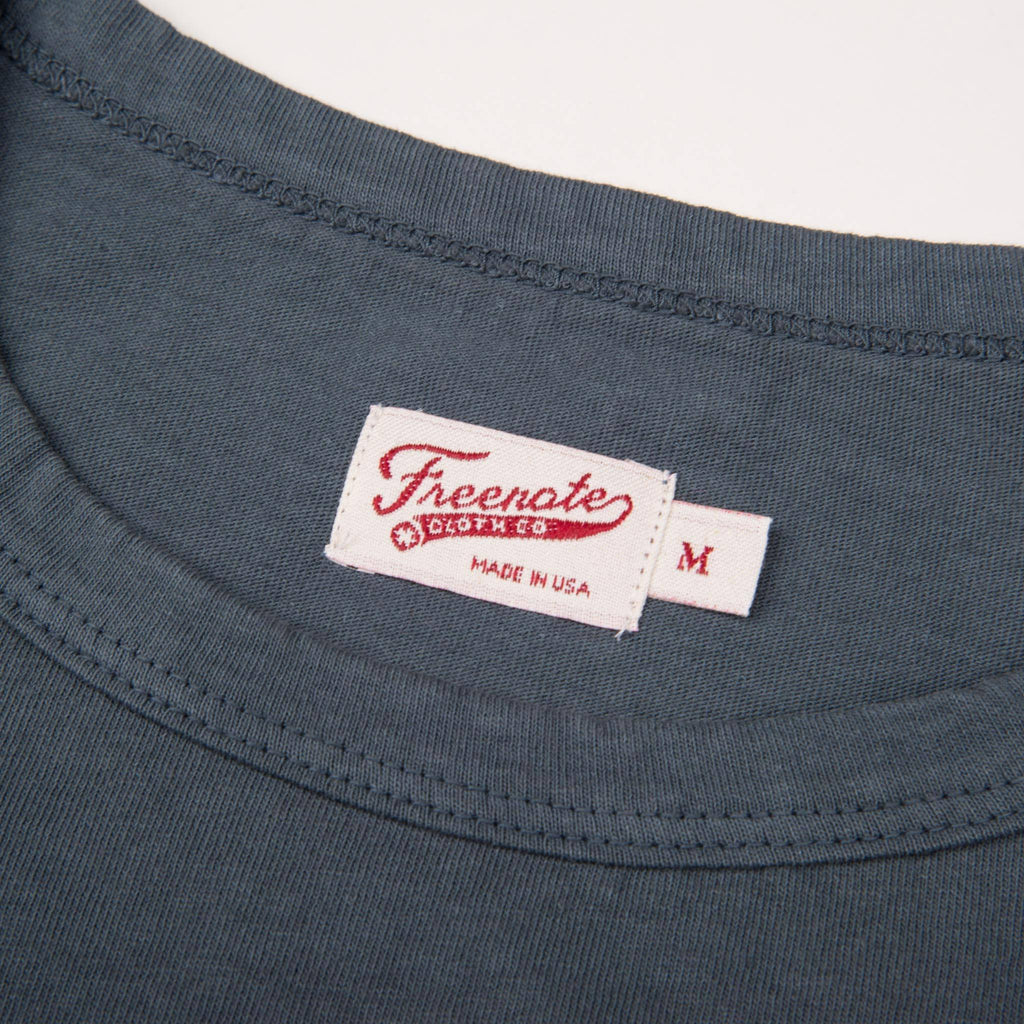 Freenote Cloth - 9 Ounce Pocket T-Shirt - Faded Blue