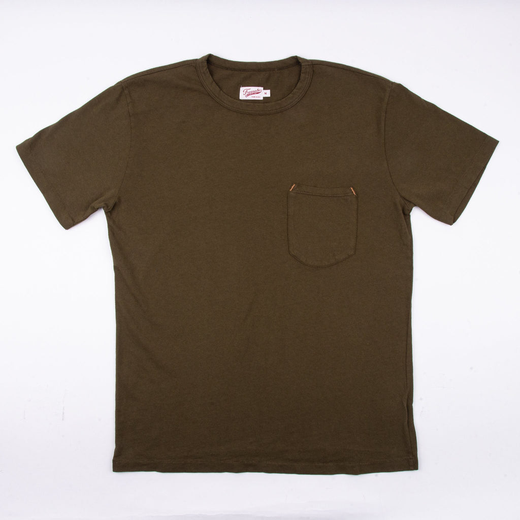 Freenote Cloth - 9 Ounce Pocket T-Shirt - Olive