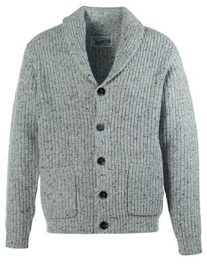 Schott NYC - Wool Blend Heathered Cardigan