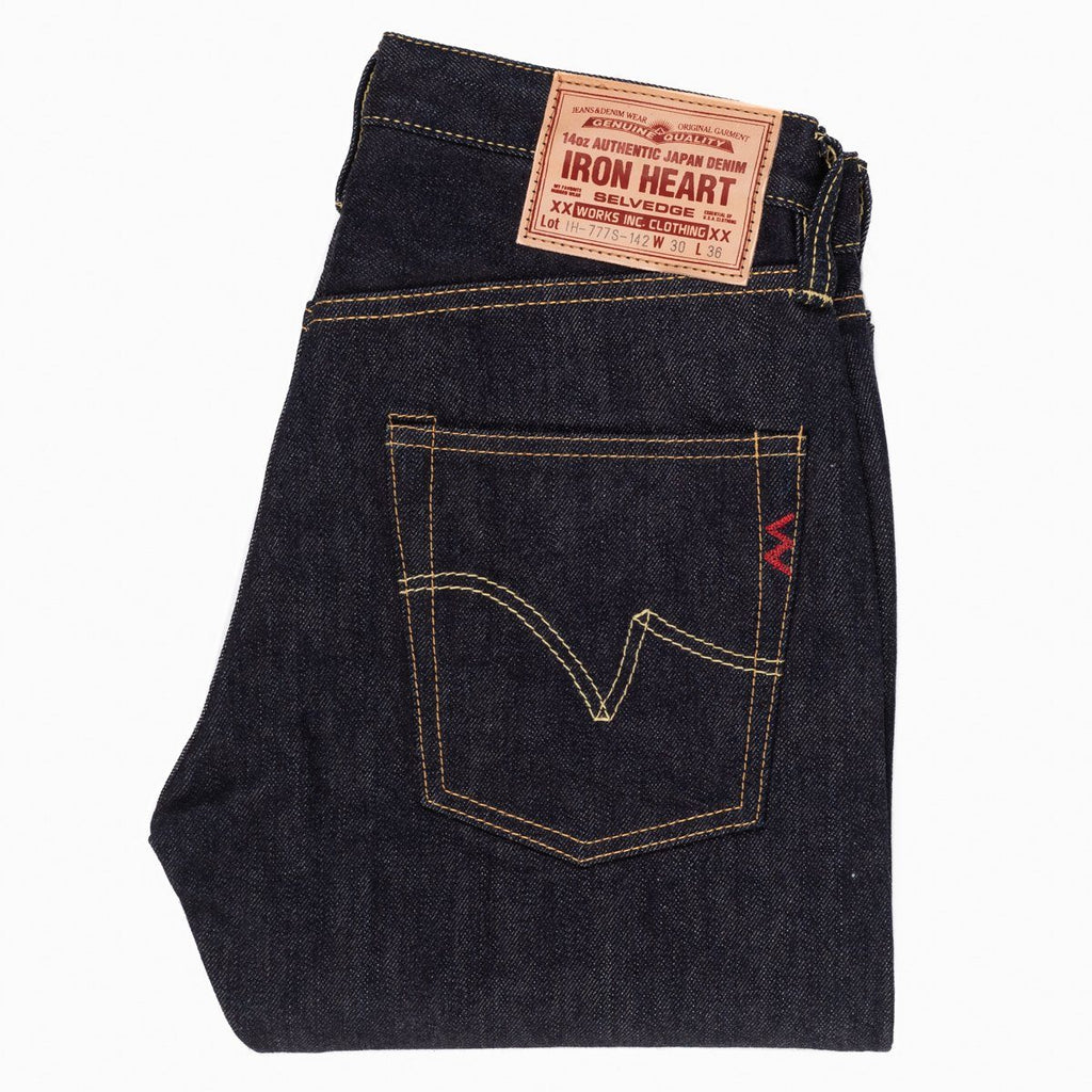 Iron Heart IH-777S-142 14oz Selvedge Denim Slim Tapered Jeans - Indigo