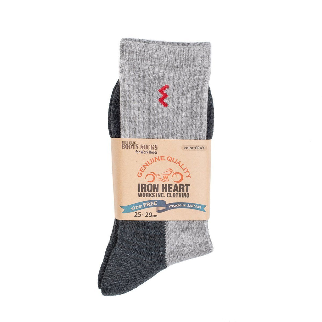 Iron Heart Work Boot Socks - Grey - City Workshop Men's Supply Co.