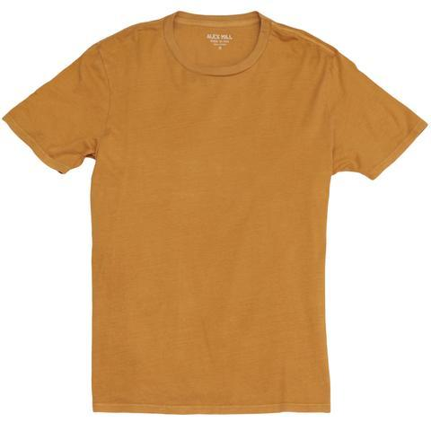 Alex Mill Standard Cotton Jersey Tee - Mustard - City Workshop Men's Supply Co.