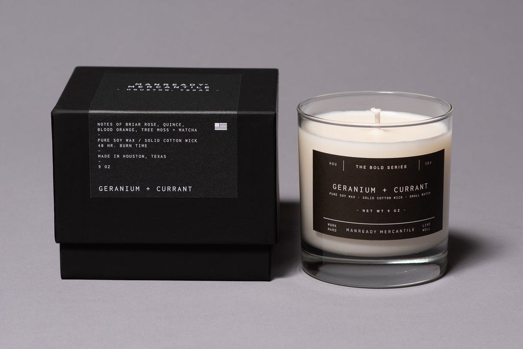 Manready Mercantile - The Bold Series Soy Candle - Currant + Blood Orange