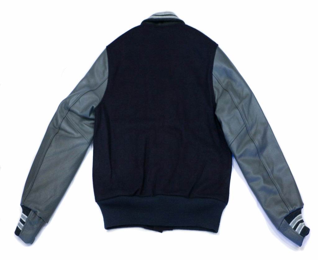 City Workshop x Golden Bear Varsity Jacket - Navy/Granite - City Workshop Men's Supply Co.