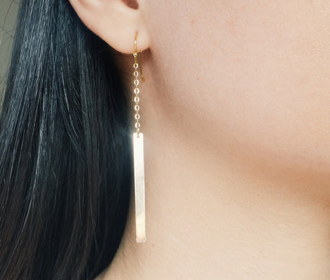 Chain & Bar Earrings