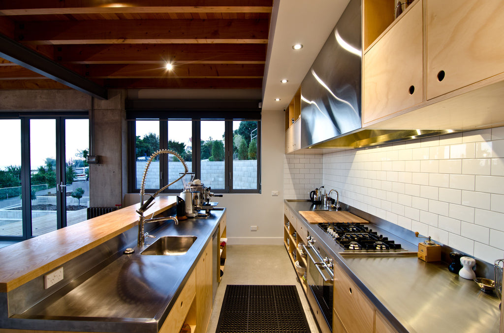 Hoop Pine plywood commercial style kitchen for the home
