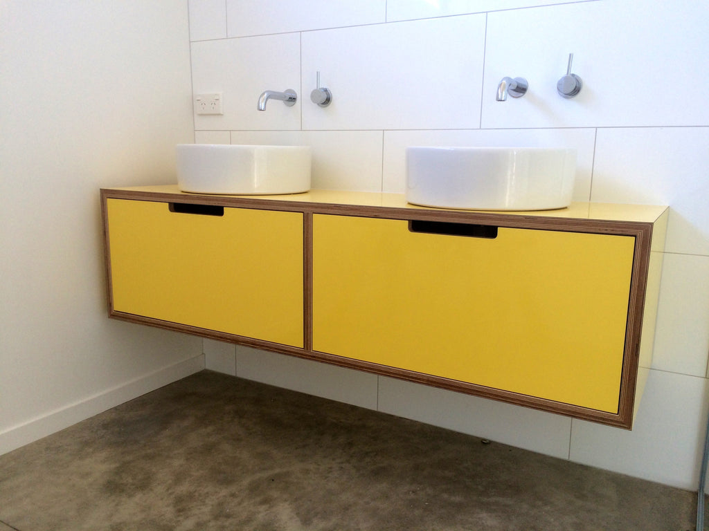 Yellow Laminate Vanity