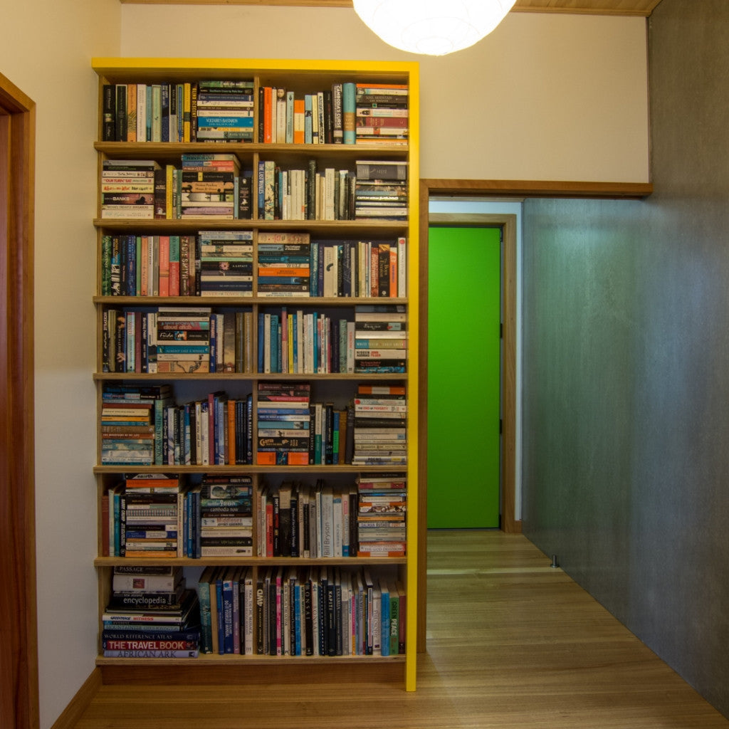 Fitted Plywood bookshelf is a safe and effective storage solution