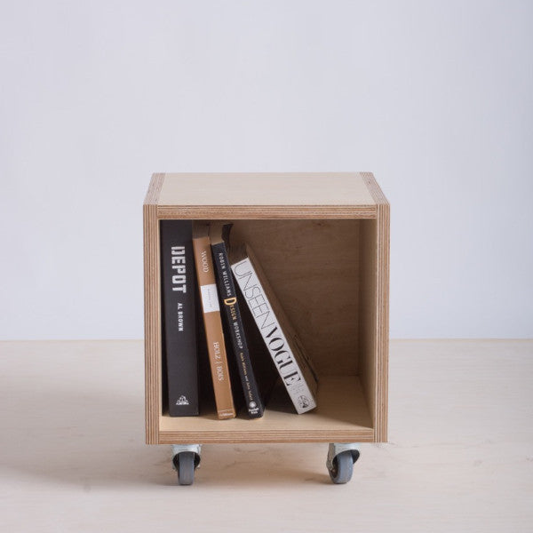 plywood storage box or bin on wheels