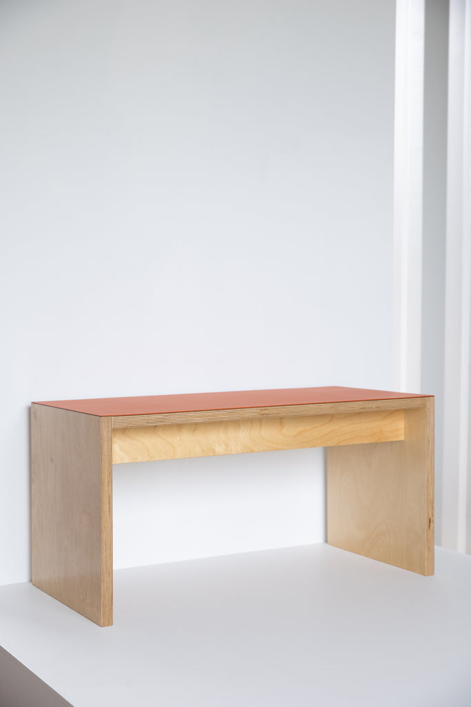 Birch Plywood Bench seat - Orange Blast