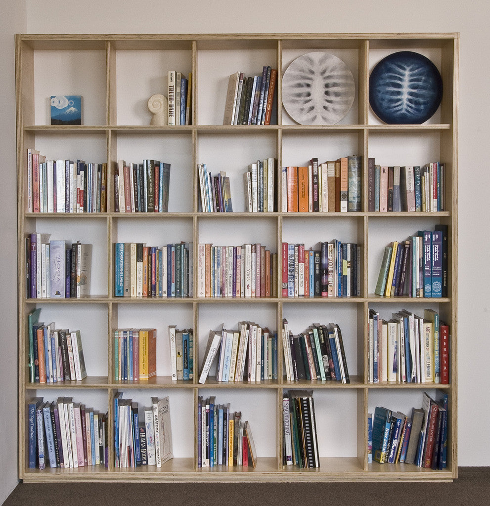 Radiata Plywood square bookshelf